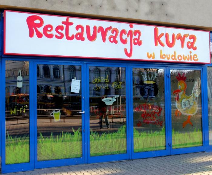Restauracja Kura w budowie
