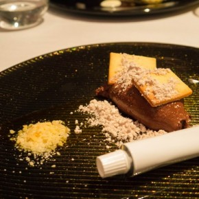Chocolate mousse with yuzu at NOLITA