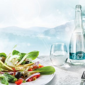 Kropla Delice - new water on restaurant tables