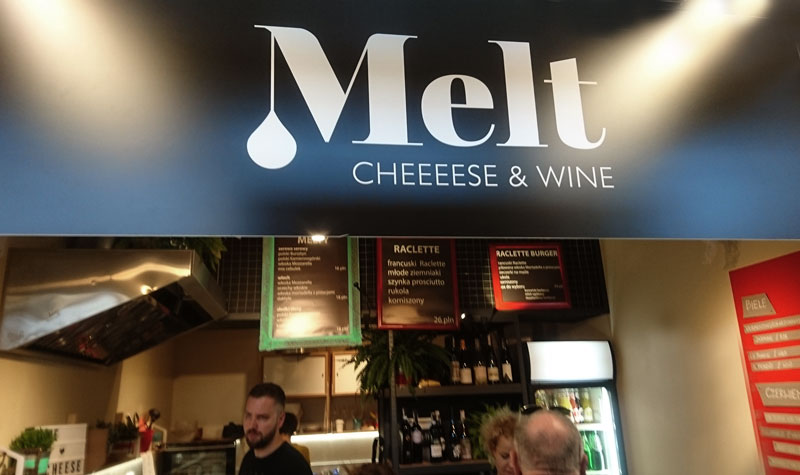 melt cheese and wine