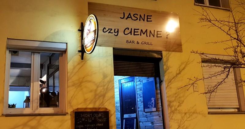 Bar Jasne Czy Ciemne Nowy Bar Przy Wilczej Warsaw Foodie