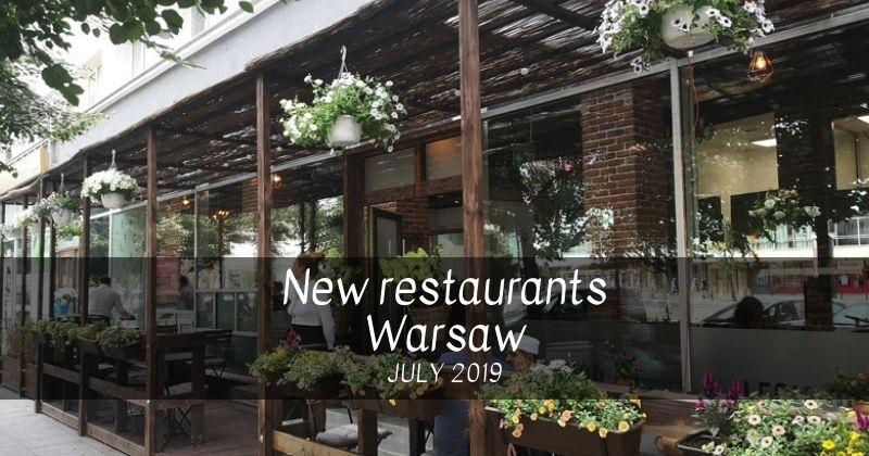 New restaurans in Warsaw 2019